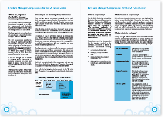 Adelaide training manual book design