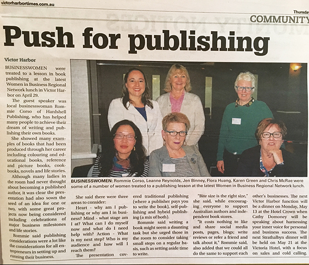 The Victor Harbor Times, push for publishing, 2019.